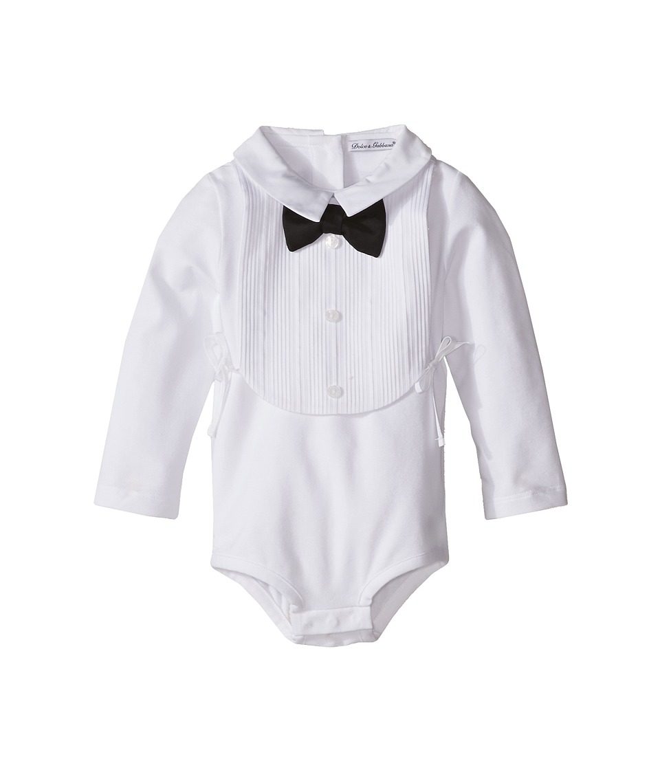 Dolce & Gabbana Kids - Tuxedo Box Set (Infant) (White Bow) Boy's Jumpsuit & Rompers One Piece