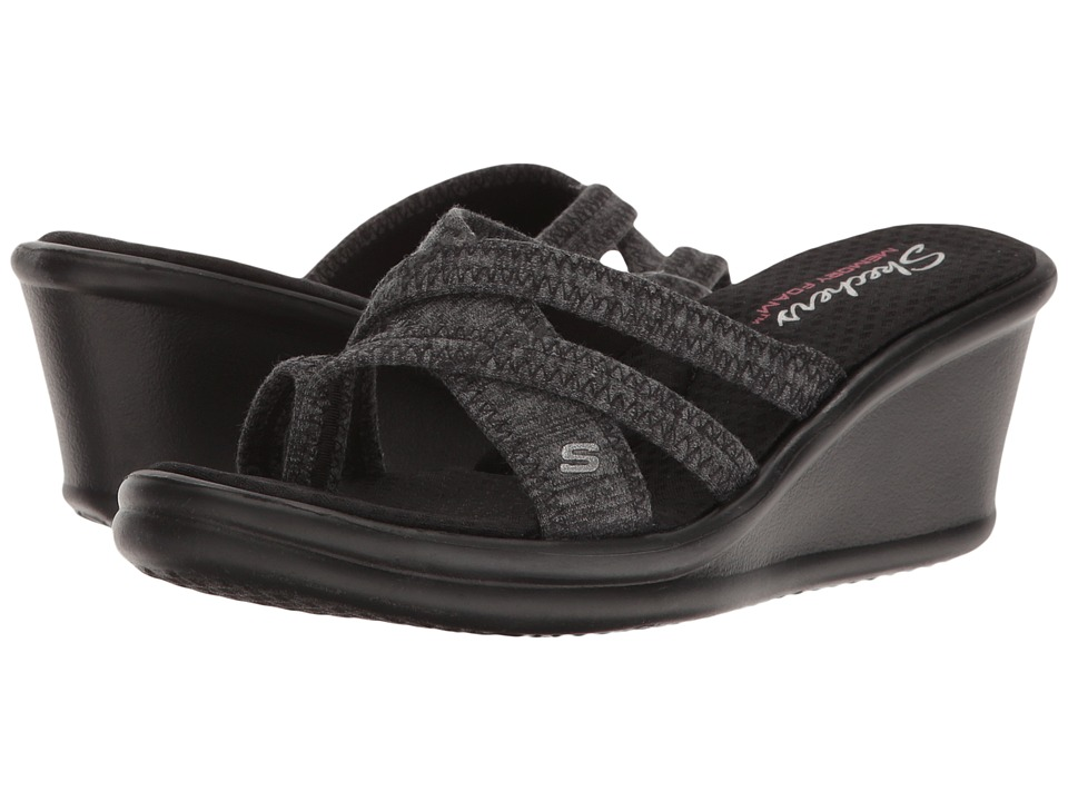 SKECHERS - Rumblers - Pen Pal (Black) Women's Wedge Shoes