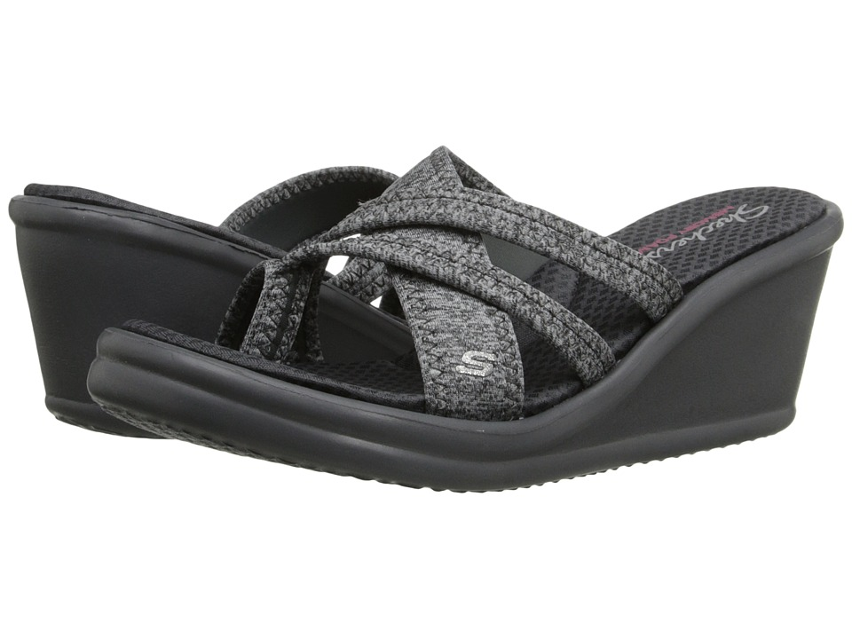 SKECHERS - Rumblers - Pen Pal (Gray) Women's Wedge Shoes