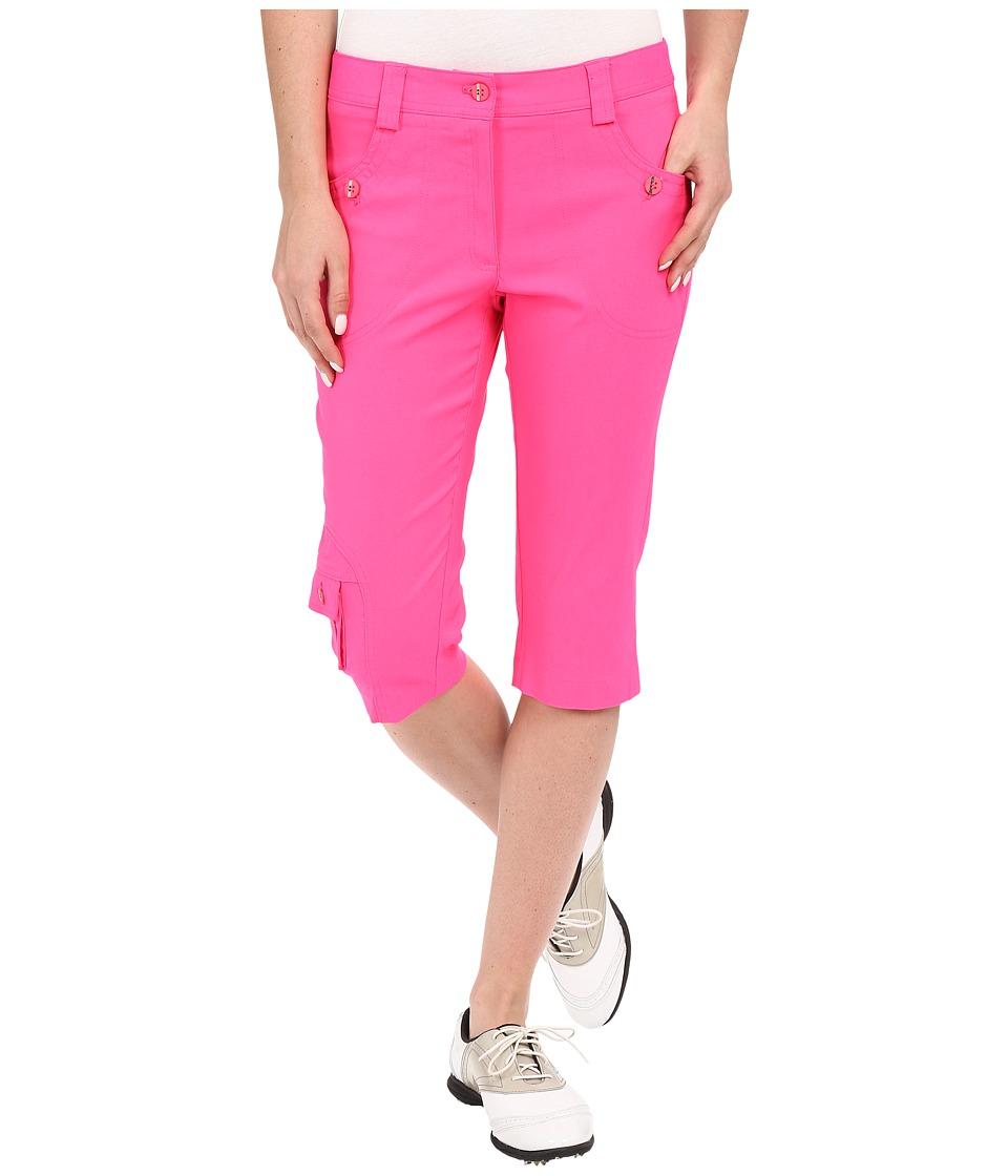 Jamie Sadock - Fly Front 24 Knee Capris (Enchantress Pink) Women's Capri