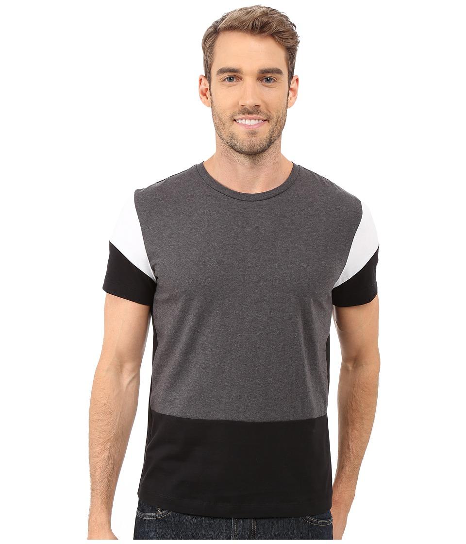Kenneth Cole Sportswear Color Block Tee (Black Combo) Men