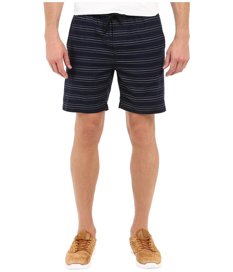 Kenneth Cole Sportswear - Horizontal Stripe Pull-On Shorts (Indigo Combo) Men's Shorts