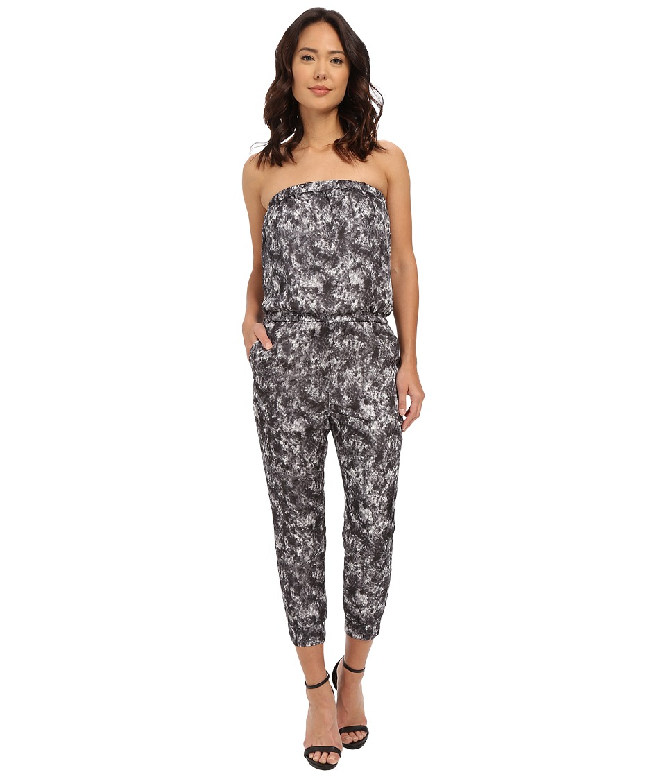 Brigitte Bailey - Marbled Satin Strapless Romper (Grey/White) Women's Jumpsuit & Rompers One Piece