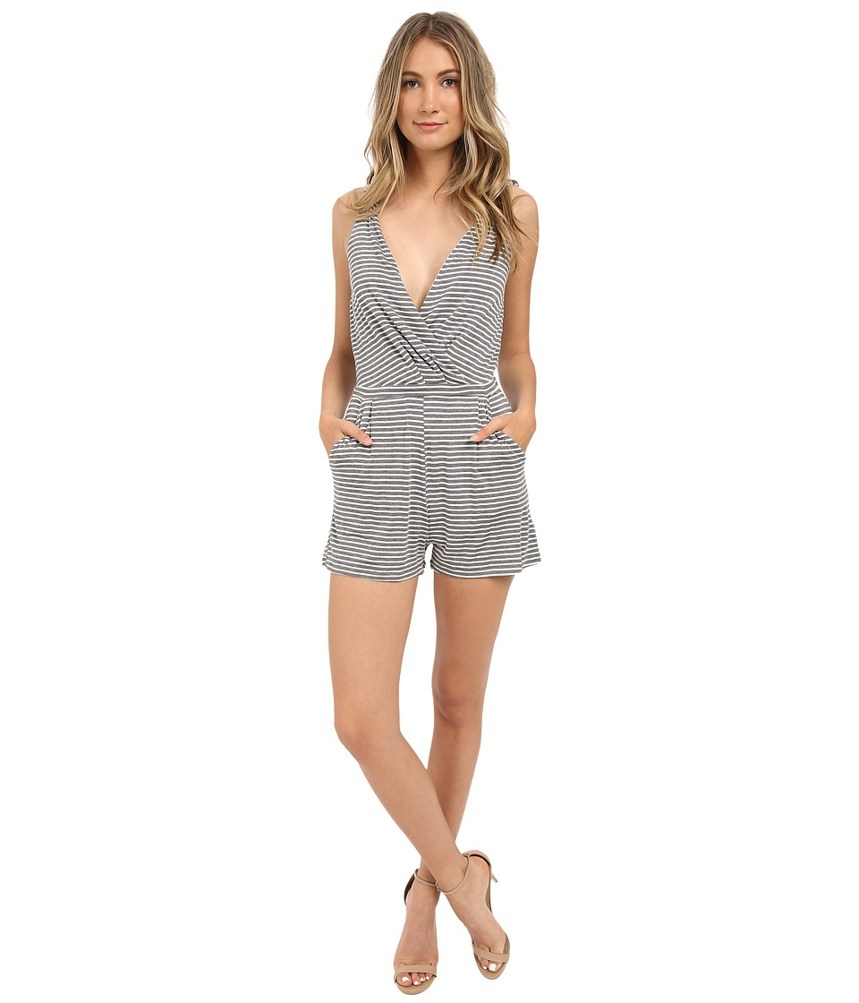Brigitte Bailey - Swan Sleeveless Romper (Med Heather Grey) Women's Jumpsuit & Rompers One Piece