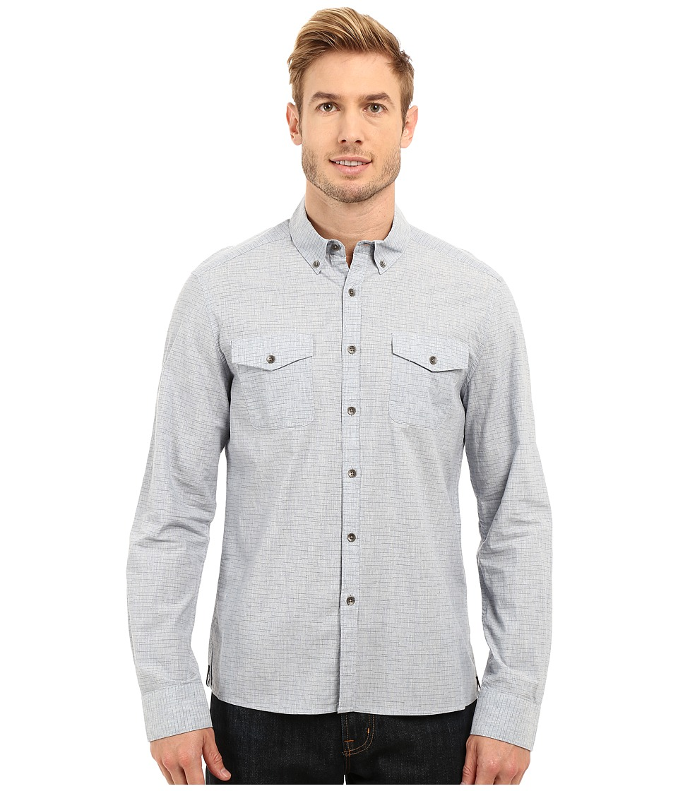 Kenneth Cole Sportswear - Long Sleeve Two-Pocket Space Dye (Indigo Combo) Men's Long Sleeve Button Up