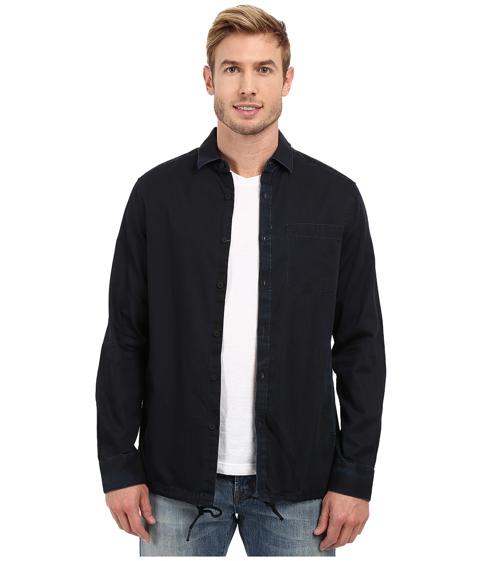 Kenneth Cole Sportswear - Long Sleeve Shirt Jacket (Indigo Combo) Men's Coat