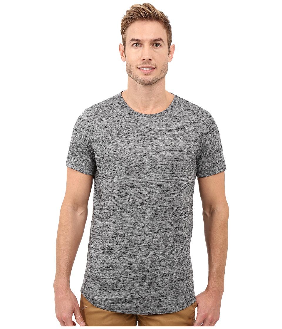 Kenneth Cole Sportswear - Jaspe w/ Side Zip (Charcoal Heather) Men's Short Sleeve Knit