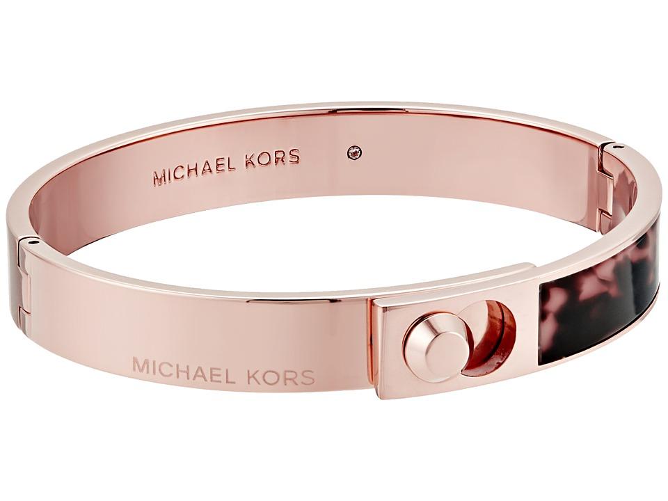 Michael Kors - Astor Acetate Bracelet (Rose Gold/Blush Tortoise) Bracelet