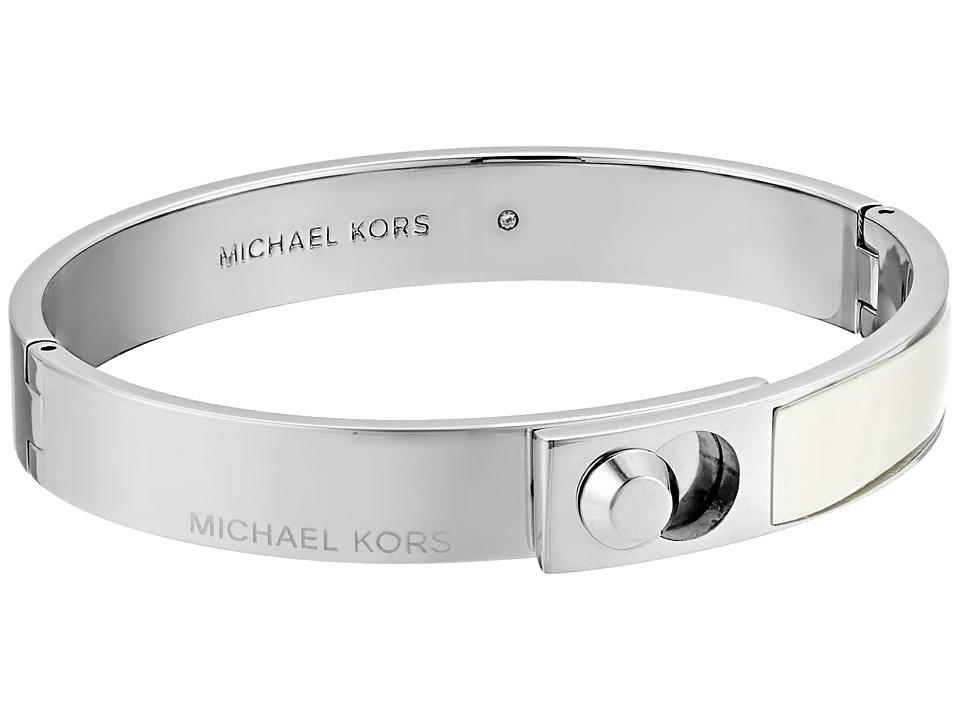 Michael Kors - Astor Acetate Bracelet (Silver/White) Bracelet