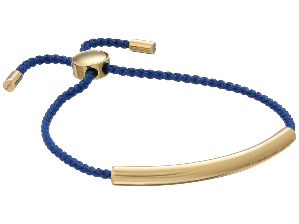 Michael Kors - Adjustable Macrame Bracelet (Gold/Navy) Bracelet