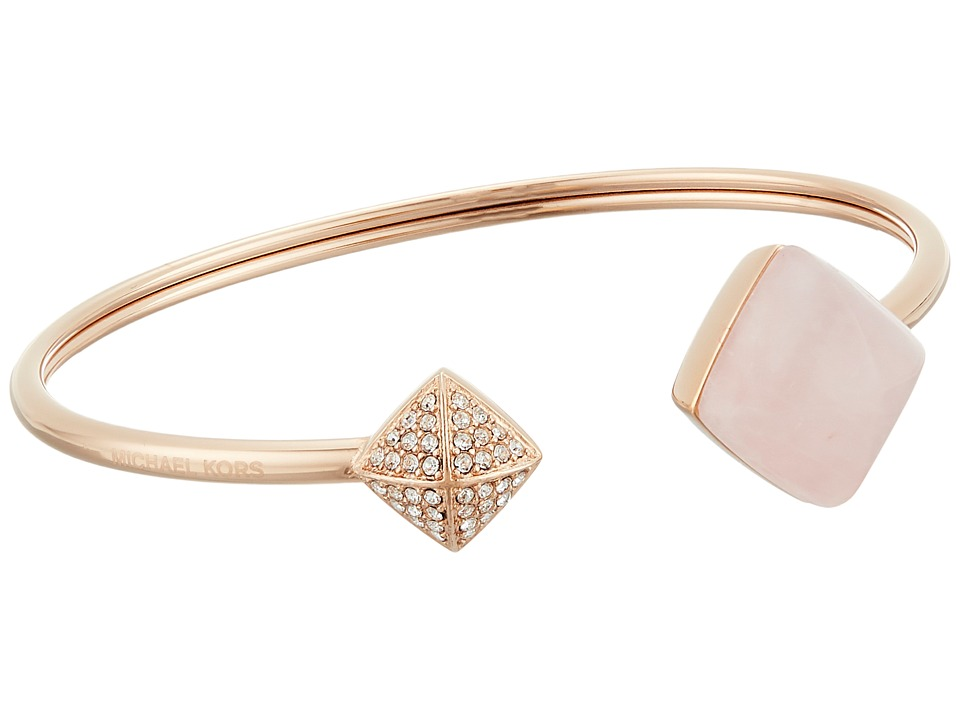 Michael Kors - Blush Rush Semi Precious Flexi Cuff Bracelet (Rose Gold/Blush/Clear) Bracelet