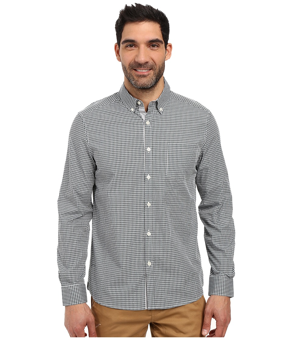 Kenneth Cole Sportswear - Long Sleeve Button Down Collar Small Check (Palm Combo) Men's Long Sleeve Button Up