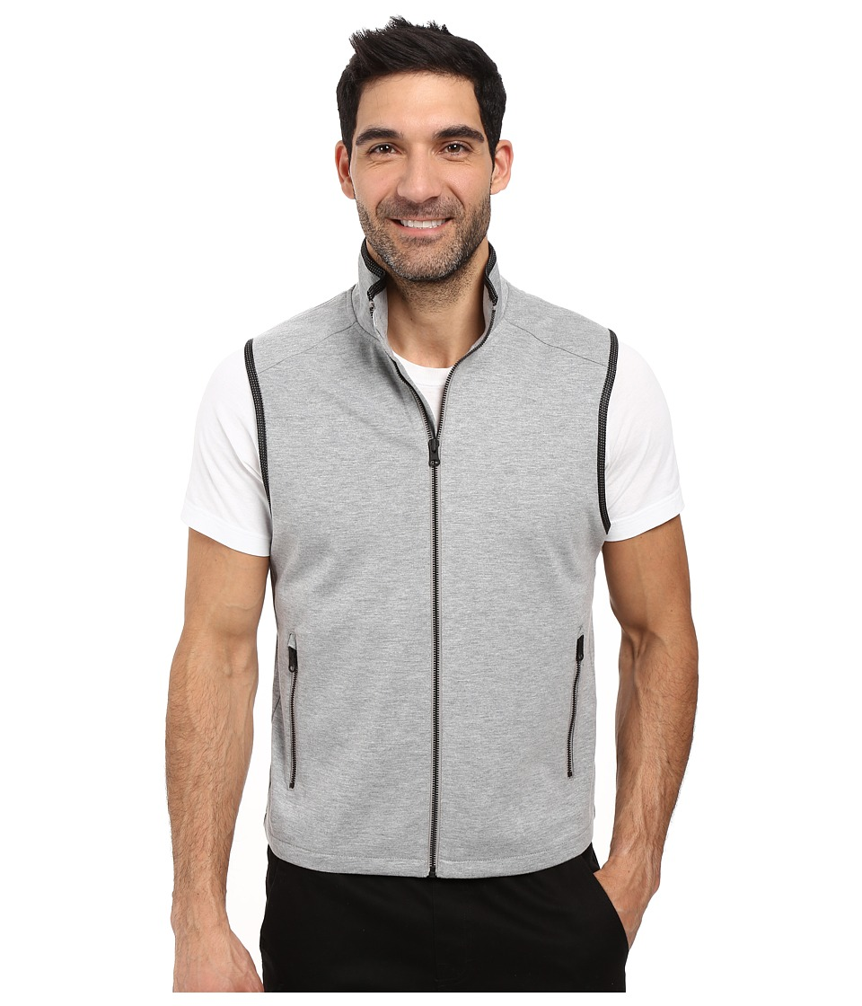 Kenneth Cole Sportswear - Jersey Mesh Vest (Heather Grey) Men's Vest
