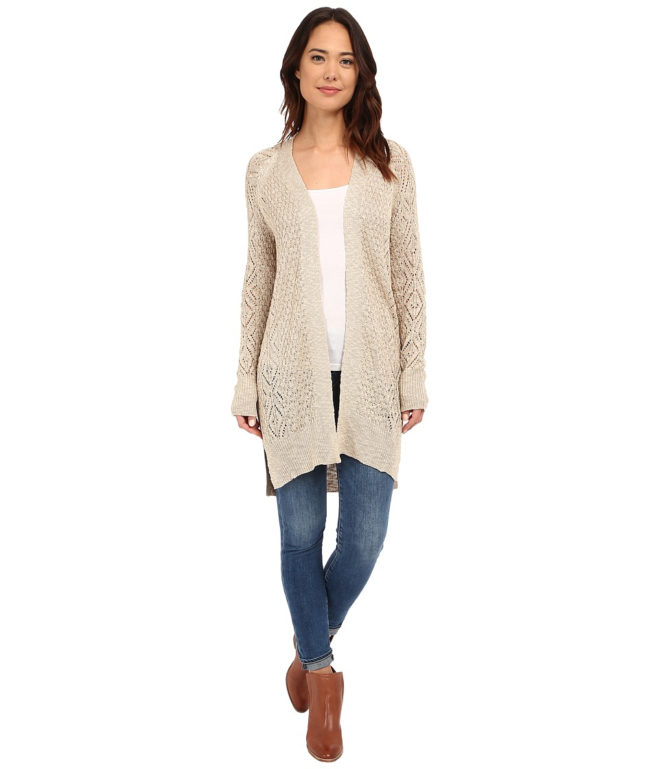 Brigitte Bailey - Jenna Open Knit Cardigan (Sand) Women's Sweater