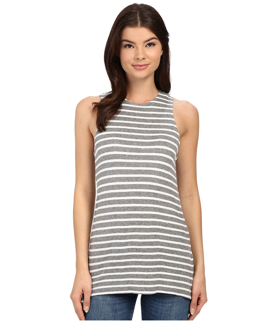 Brigitte Bailey - Reno Striped Swing Tank (Grey Combo) Women's Dress