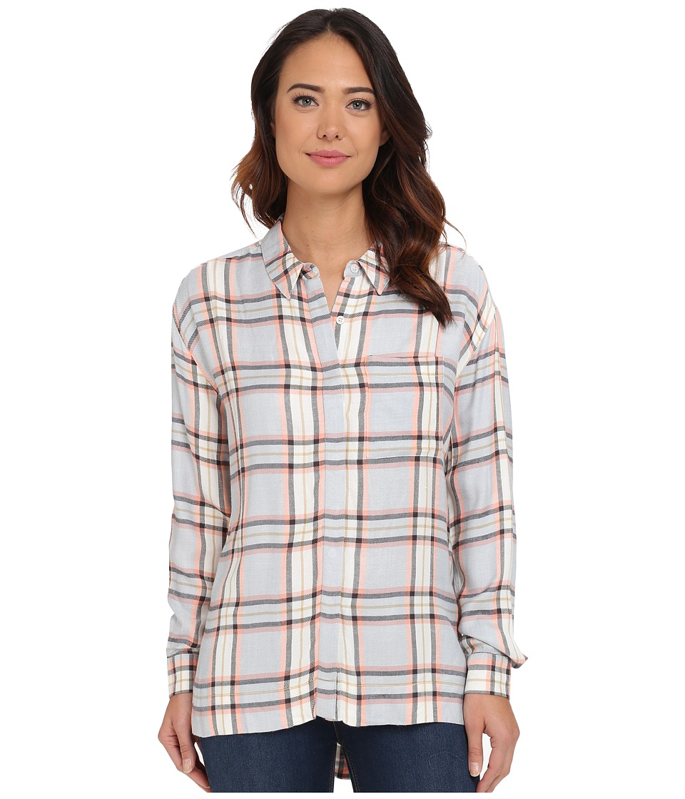 Brigitte Bailey - Eddie Plaid Shirt (Navy Combo) Women's Long Sleeve Button Up