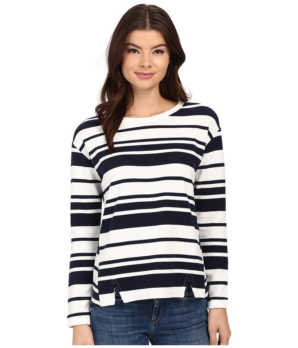 Brigitte Bailey - Benny Striped Top (Navy/White) Women's Clothing
