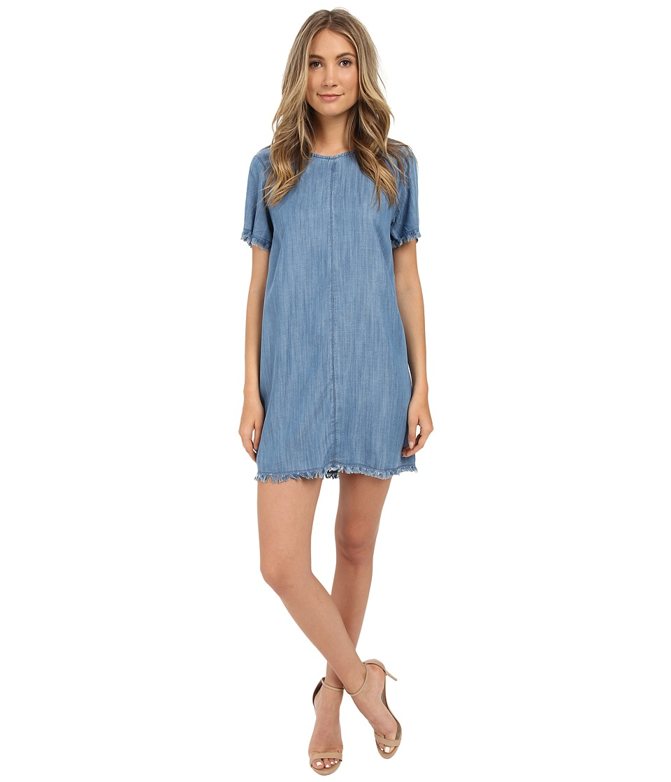 Brigitte Bailey - Raw Edge Denim Dress (Light Blue) Women's Dress