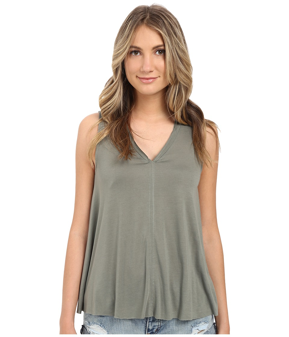 Brigitte Bailey - Olivia V-Neck Tank Top (Olive) Women's Sleeveless