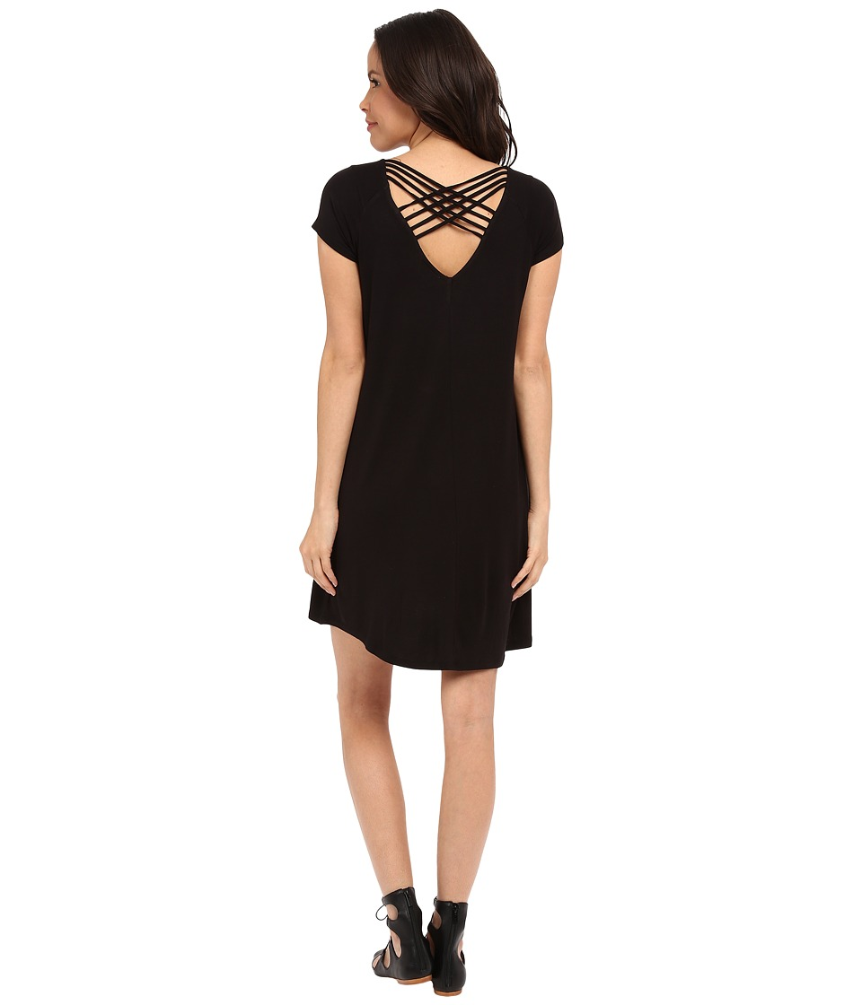Brigitte Bailey - Luna T-Shirt Dress (Black) Women's Dress