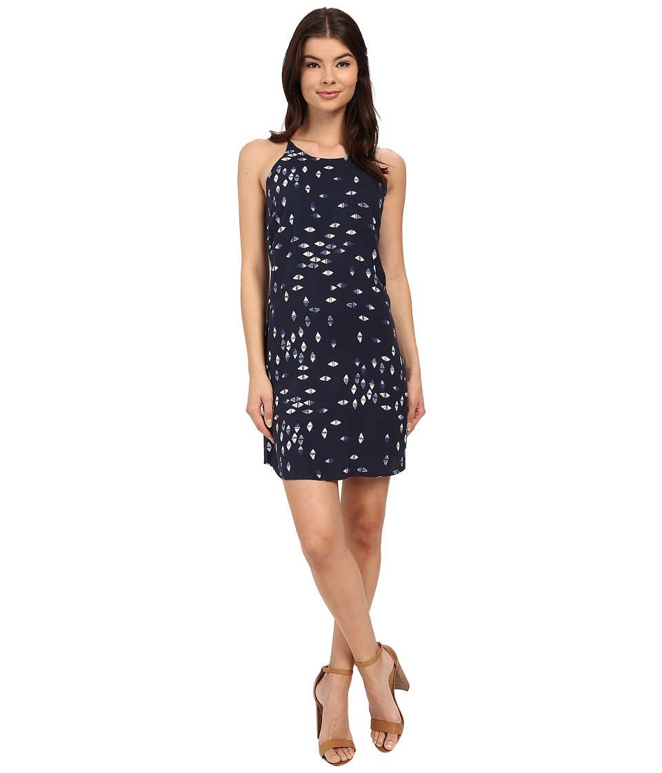 Brigitte Bailey - Capri Printed Dress (Navy Combo) Women's Dress