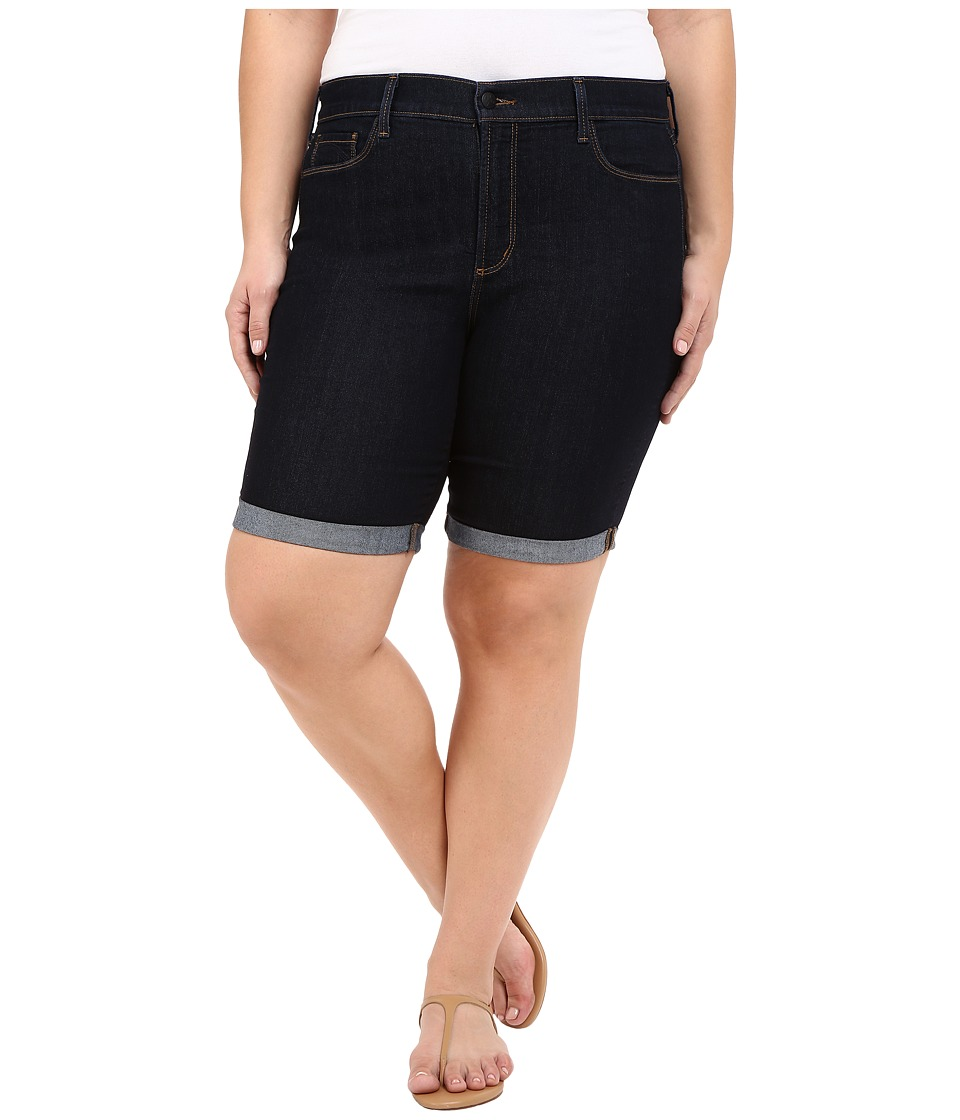 NYDJ Plus Size - Plus Size Briella Roll Cuff Shorts (Dark Enzyme Wash) Women's Shorts