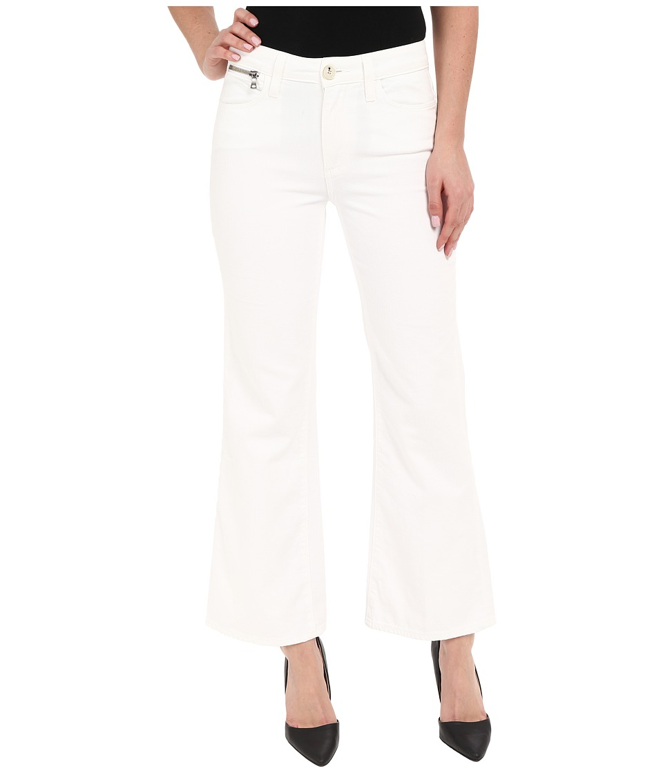 Paige Classic Milo Cropped Flare in Optic White (Optic White) Women's Jeans