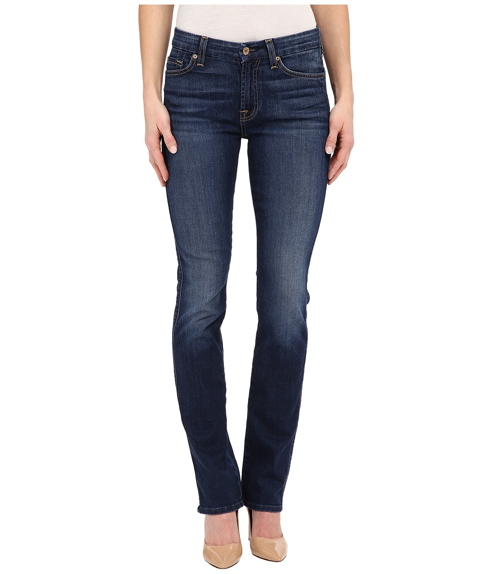 7 For All Mankind - Kimmie Straight in Medium Timeless Blue (Medium Timeless Blue) Women's Jeans