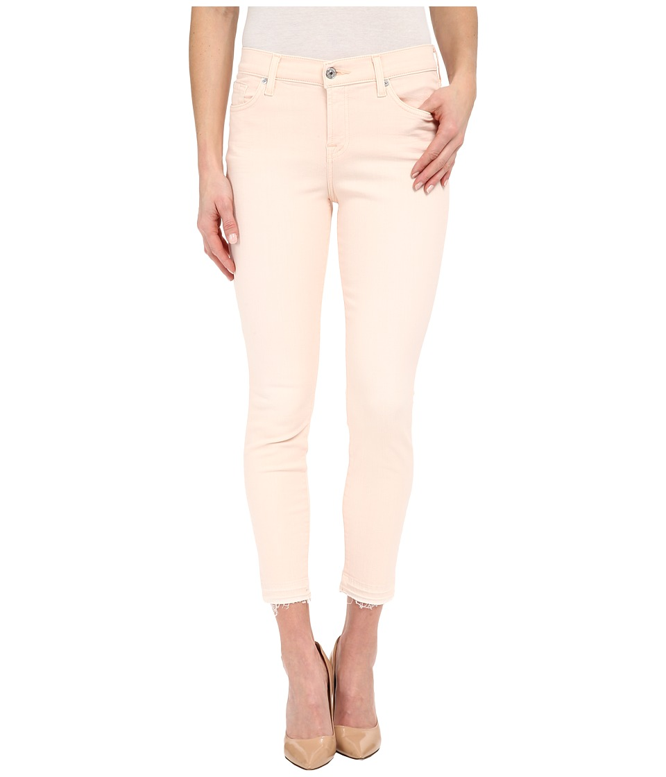 7 For All Mankind - The Ankle Skinny w/ Released Hem in Crystal Pink (Crystal Pink) Women's Jeans