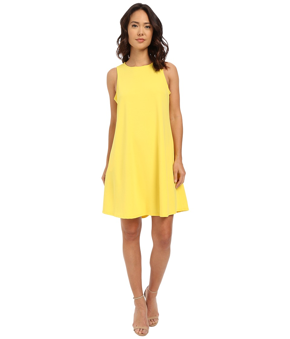 Christin Michaels - Sunrise Trapeze Dress (Yellow) Women's Dress