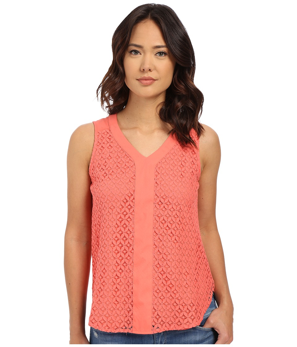 Christin Michaels - Centre Blouse (Coral Sunset) Women's Blouse