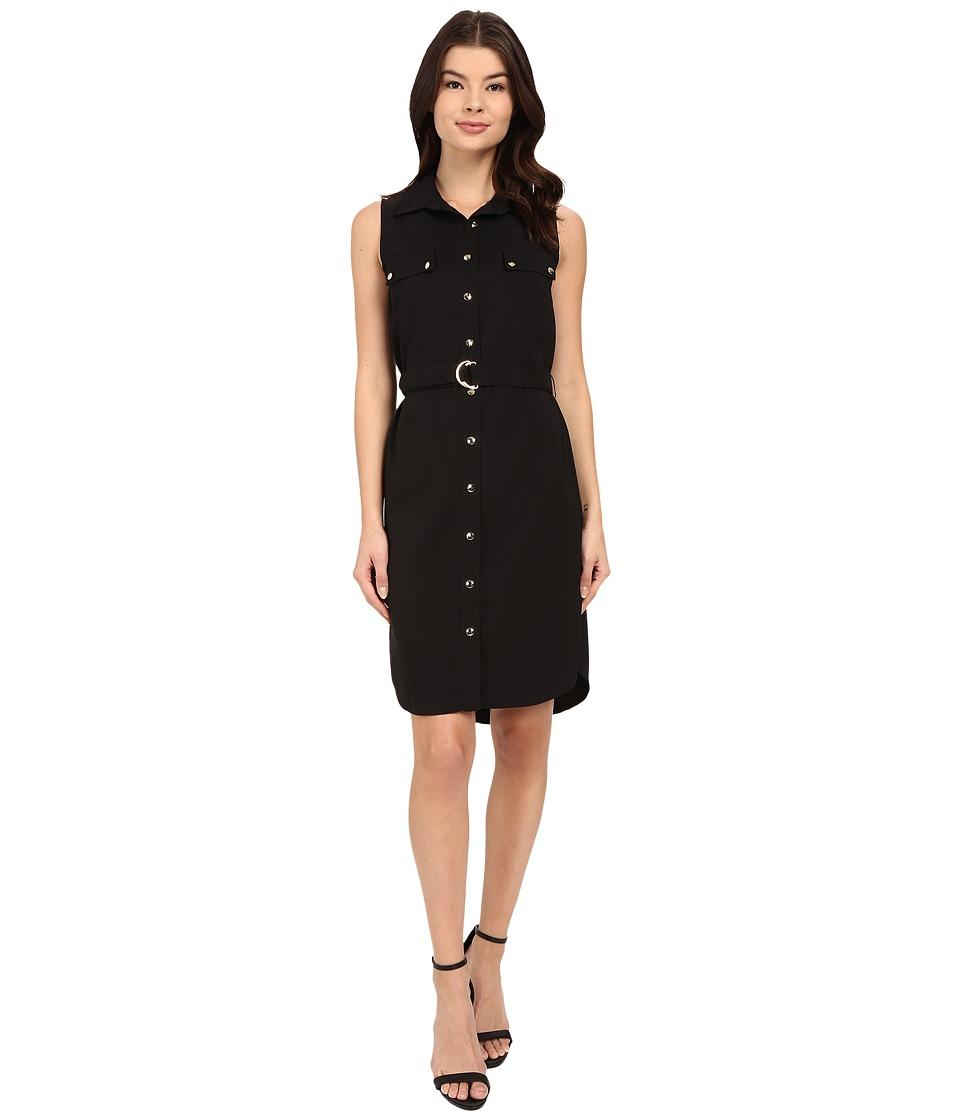 Christin Michaels - Shelia Belted Dress (Black) Women's Dress