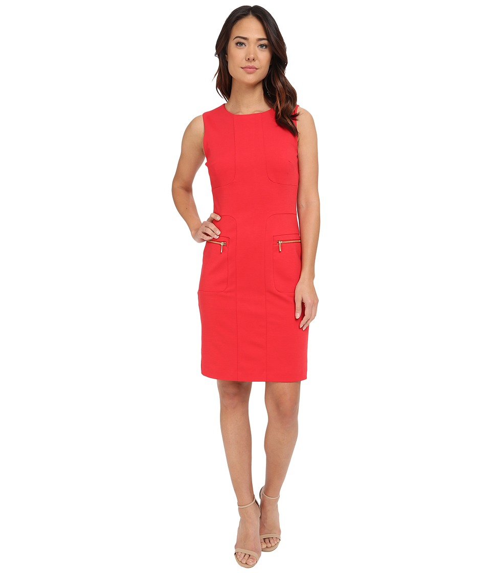 Christin Michaels - Mia Zip Pocket Dress (Red) Women's Dress