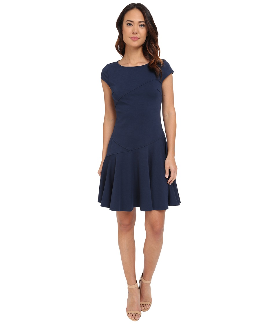 Christin Michaels - Sterling Cap Sleeve Dress (Navy) Women's Dress