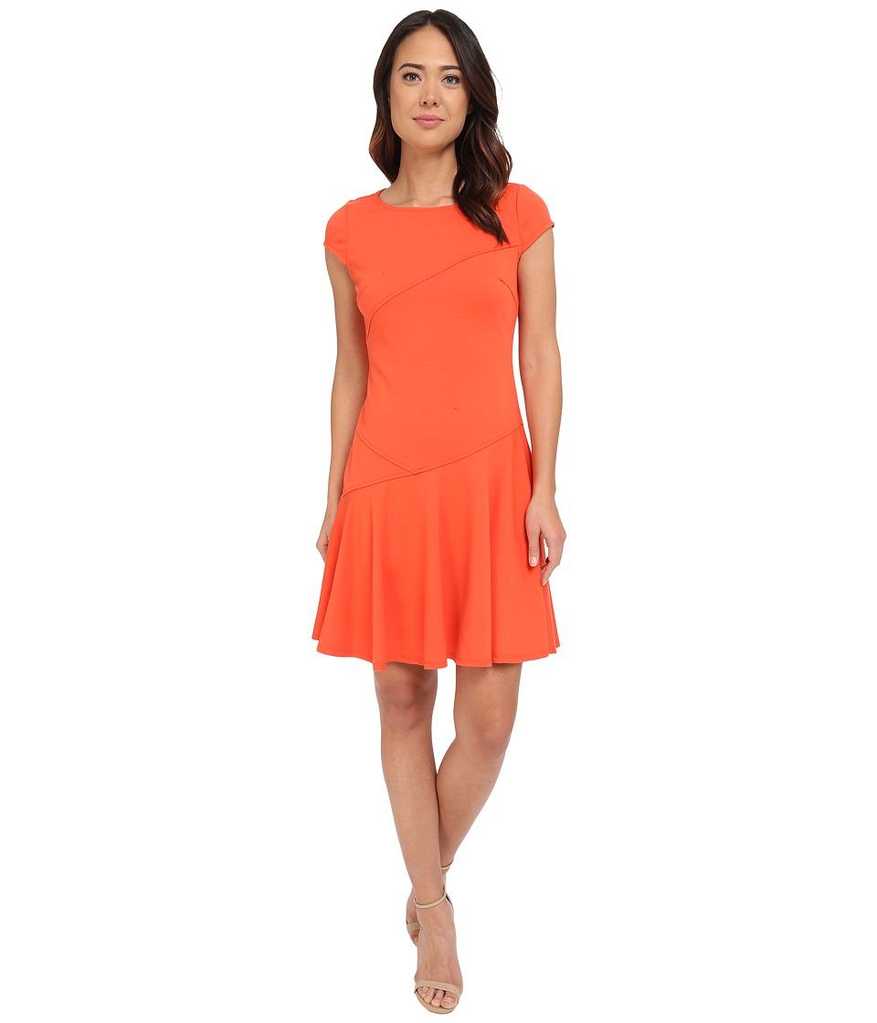Christin Michaels - Sterling Cap Sleeve Dress (Valencia Orange) Women's Dress