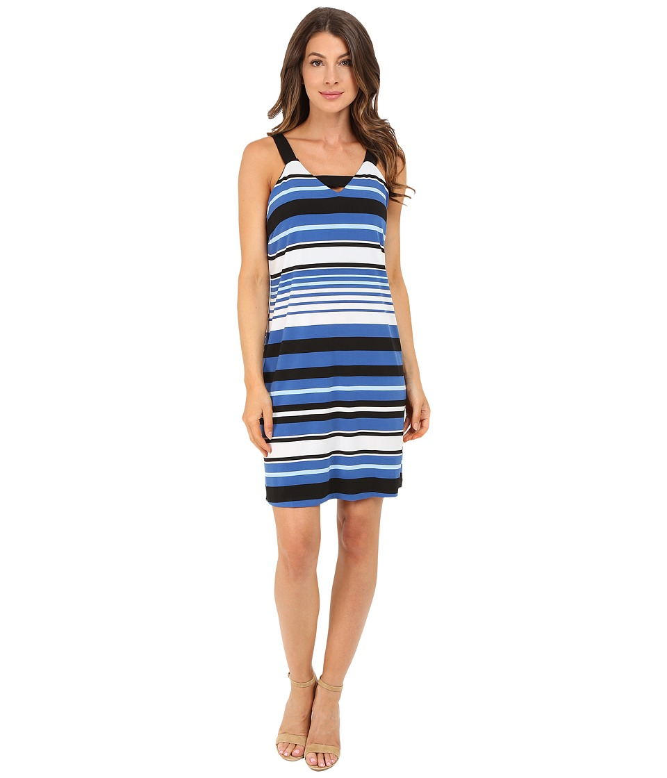 Christin Michaels - Palermo Dress (White/Blue/Black) Women's Dress
