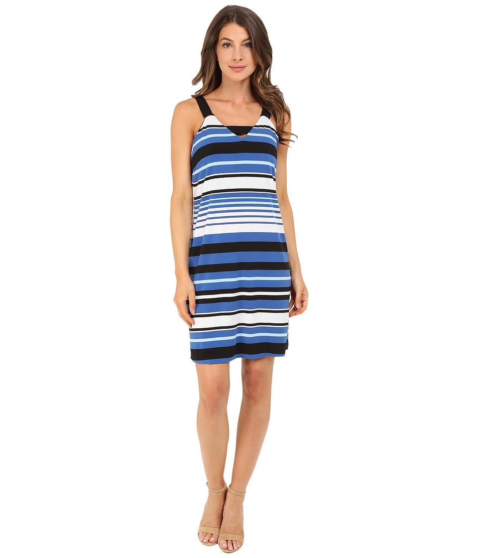 Christin Michaels - Palermo Dress (White/Blue/Black) Women's Dress