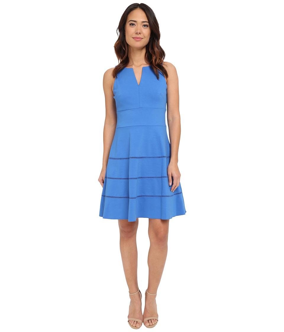 Christin Michaels - Lynn V-Neck Dress (Cobalt) Women's Dress