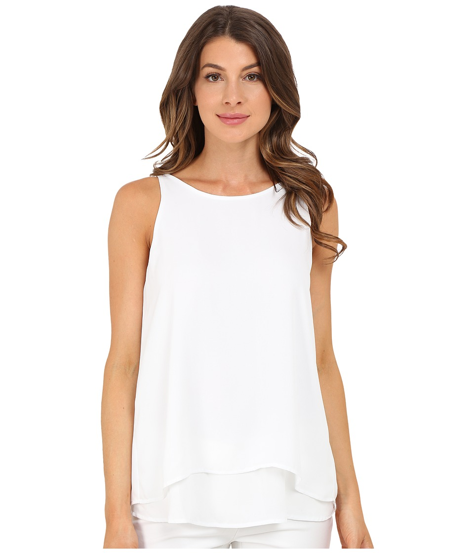 Christin Michaels - Reunion High Neck Top (White) Women's Clothing
