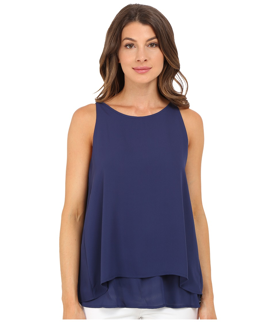 Christin Michaels - Reunion High Neck Top (Medieval Blue) Women's Clothing