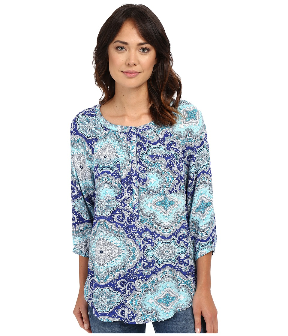 Christin Michaels - Seine Top (Mint Blue Multi) Women's Clothing