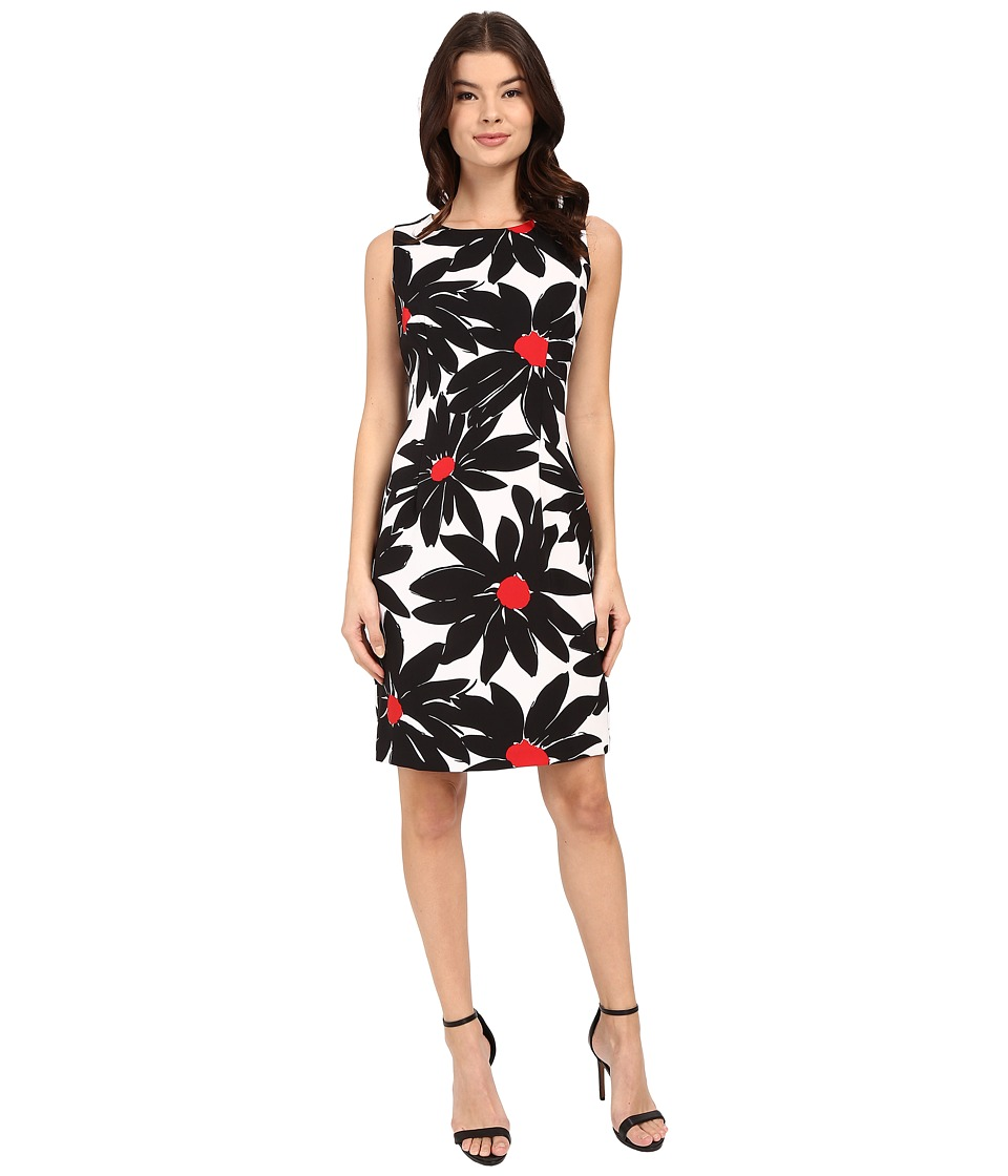 Christin Michaels - Dramatic Daisy Dress (White/Black/Red) Women's Dress