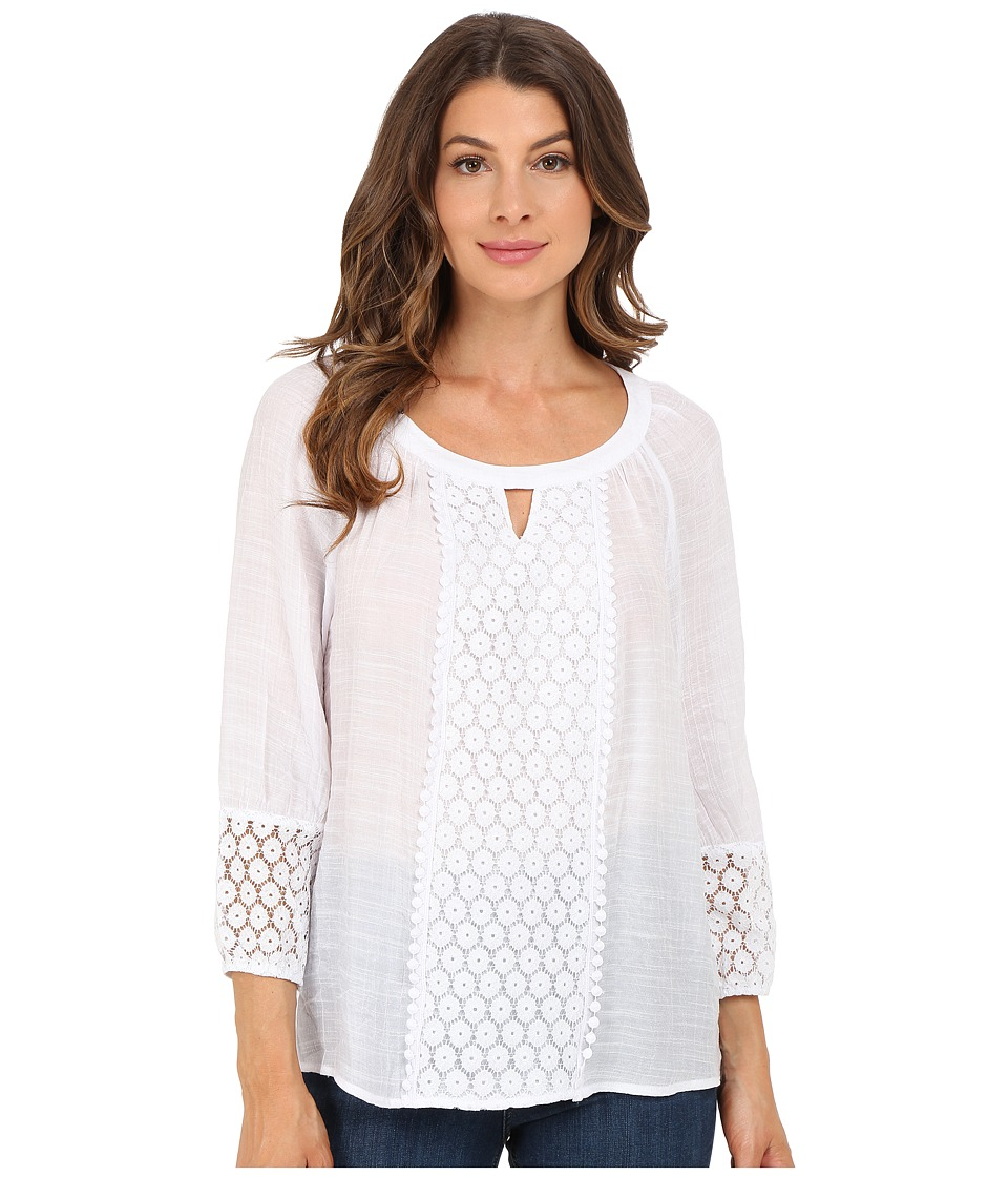 Christin Michaels - Caen Lace Top (White) Women's Clothing