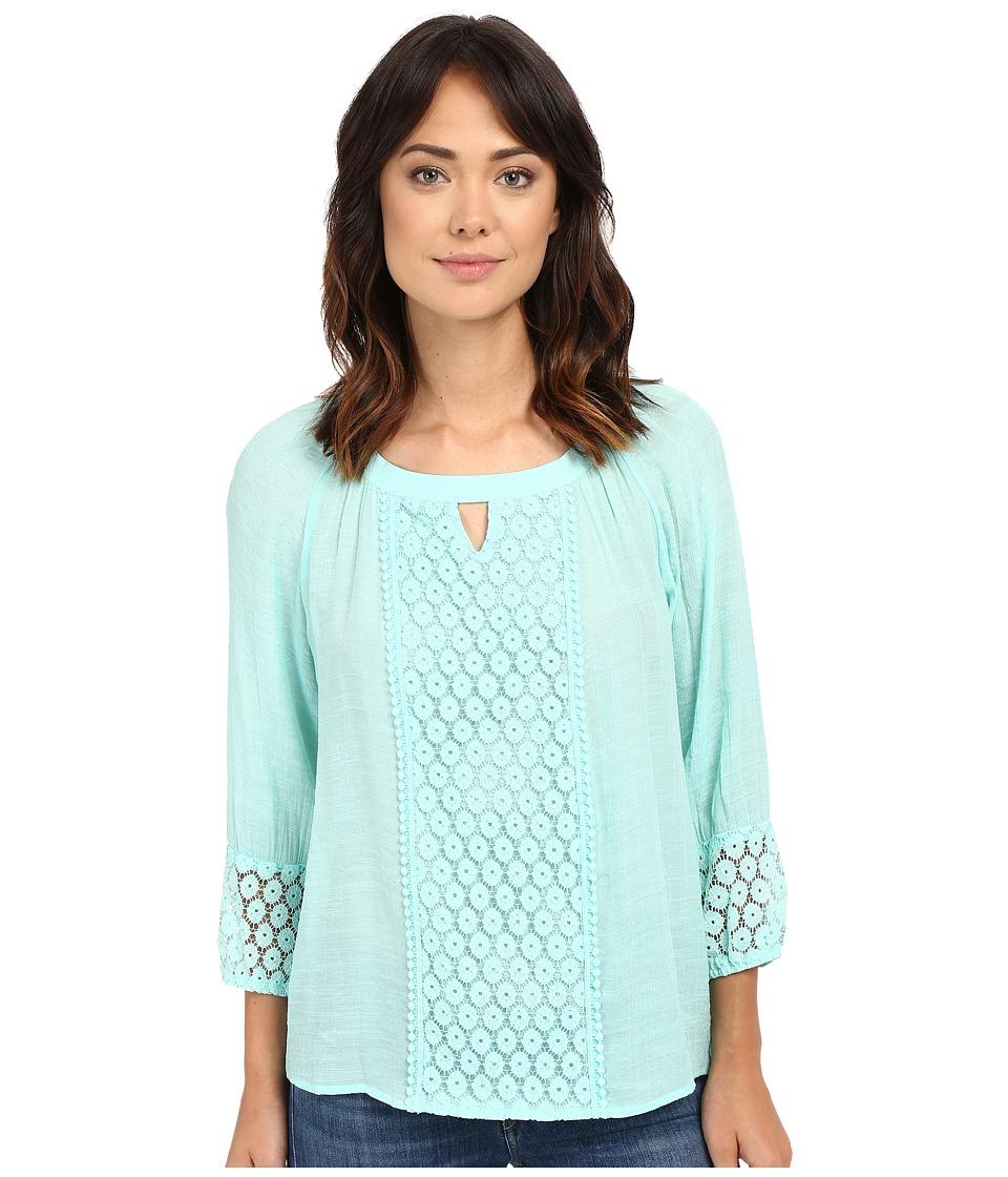 Christin Michaels - Caen Lace Top (Mint) Women's Clothing