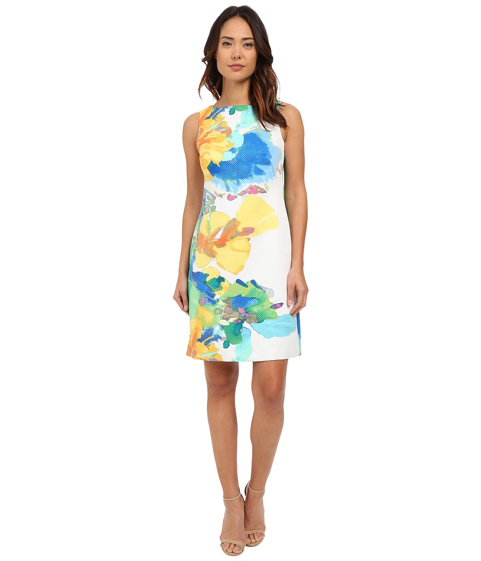 Christin Michaels - Floral Print Cagliari Dress (White Multi) Women's Dress