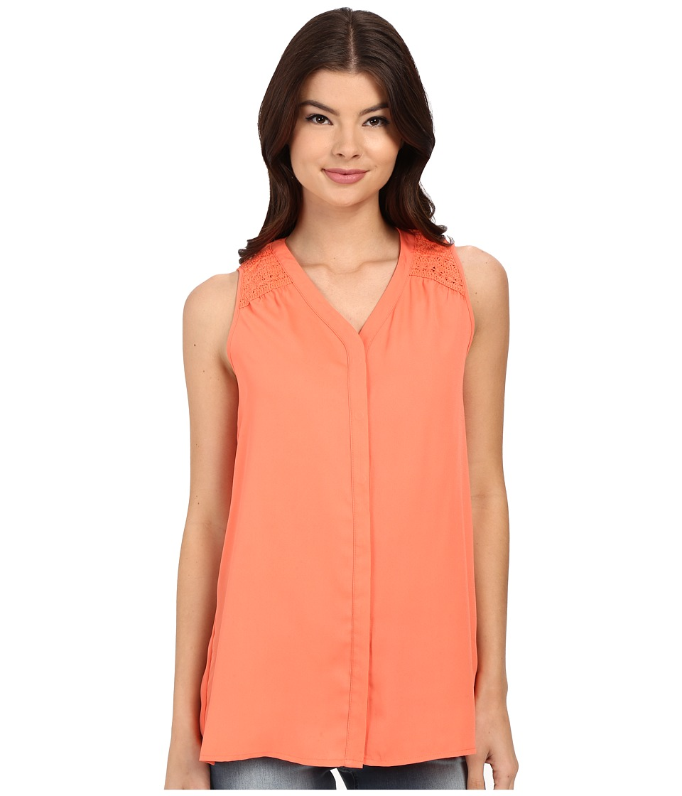 Christin Michaels - Martinique Top (Living Coral) Women's Clothing