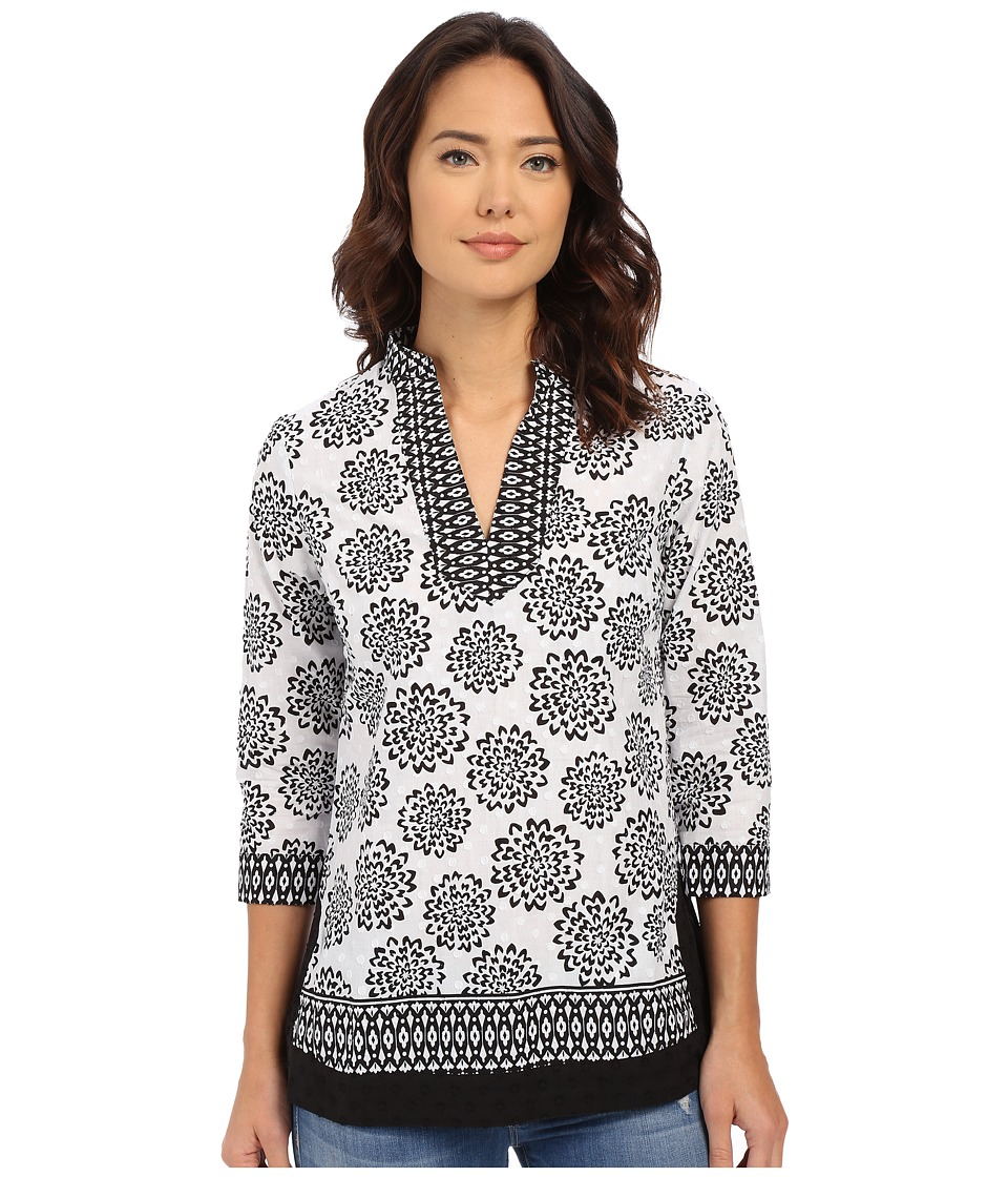 Christin Michaels - Loiret Blouse (Black/White) Women's Blouse