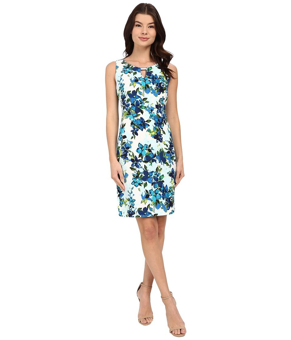 Christin Michaels Kai Tropical Dress (Blue/White Multi) Women