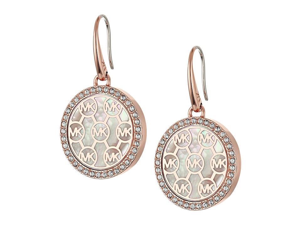 Michael Kors - Drop Earrings (Rose Gold/Mother-of-Pearl/Clear) Earring