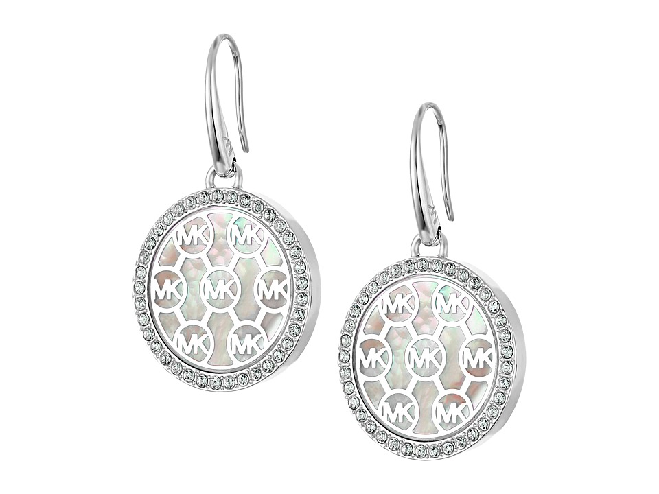 Michael Kors - Drop Earrings (Silver/Mother-of-Pearl/Clear) Earring